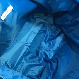 Neiman Marcus Bags - Neiman Marcus 💙 Large Blue Snakeskin Embossed Bag